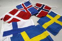 Nordiskt flaggspel 30x40 cm