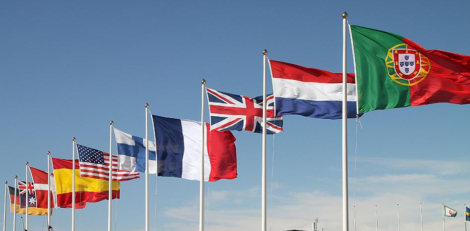 Flagga för din gäst från utlandet!